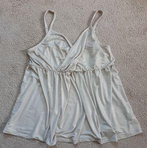 Torrid shimmer cream blouse w/straps